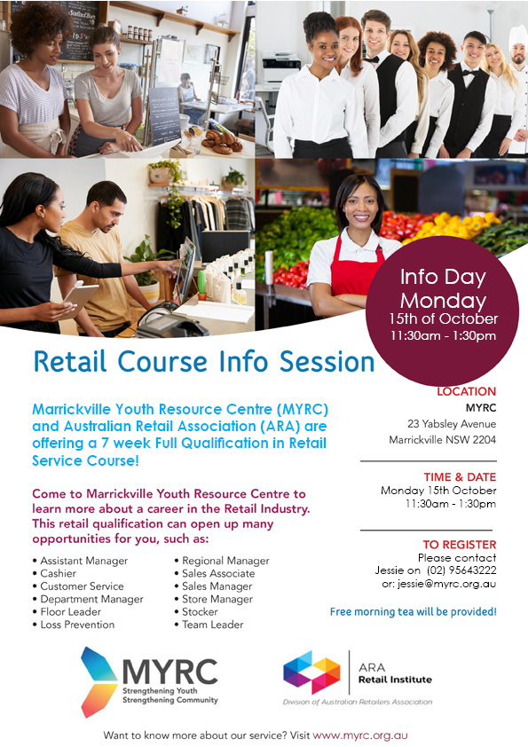MYRC ARA retail course Oct Info Day